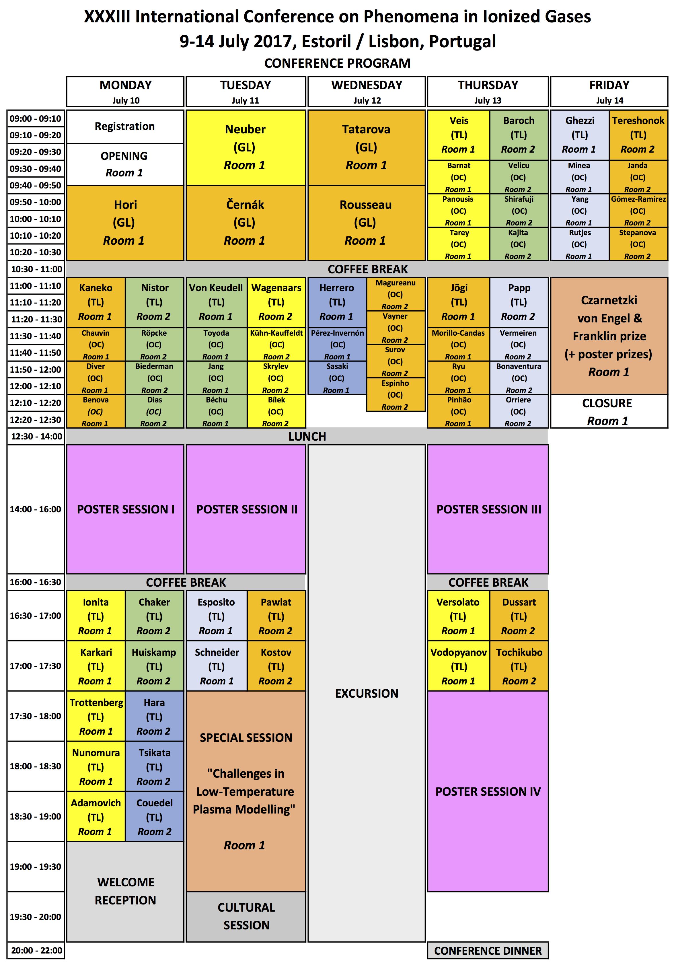 program - timetable